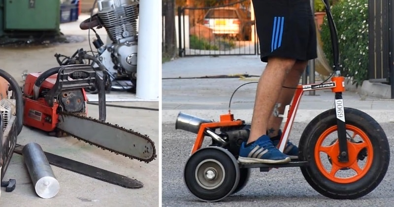 How To Make 3 Wheeler Scooter With Chainsaw Engine | Sia Magazin