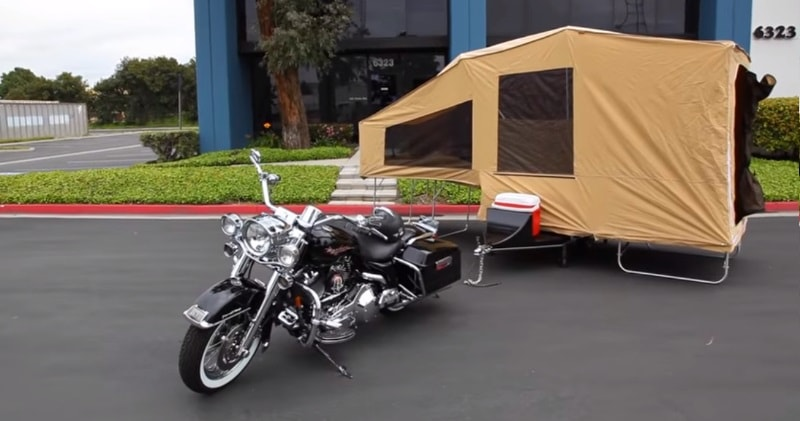 A Pull Behind Motorcycle Camper Trailer Camping The Solace Sia