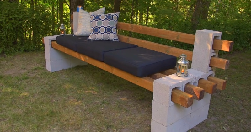 A Cheap Amp Easy Way To Build A Outdoor Bench Using Cinder