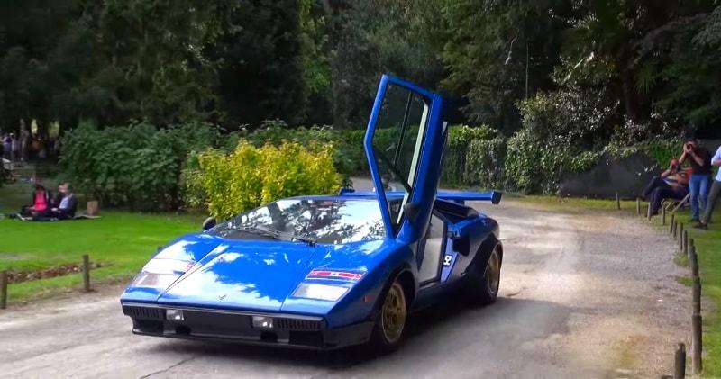 Valentino Balboni Drives Lamborghini Countach Walter Wolf Lp400