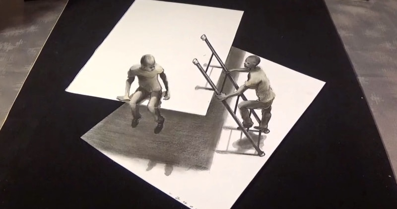 Art Simple Optical Illusion 3d Drawing