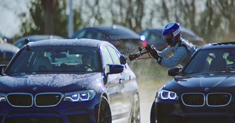 Watch The All New Bmw M5 Refuel Mid Drift To Take Two Guinness World