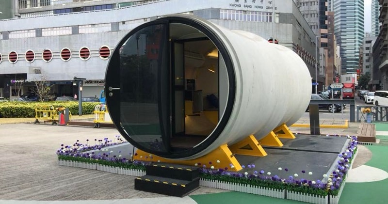 Opod Hong Kong S Low Cost Concrete Pipe Micro Apartment