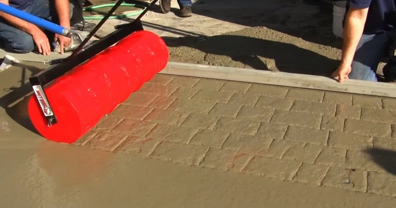 Weight And Spray Release System For Stamped Concrete Available In Seven Patterns It Is 24 36 Border Rollers