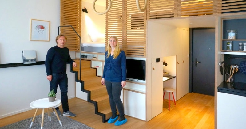 "Tiny Studio Apartment – Sleeping Loft and Moving Staircase ""Zoku ..."