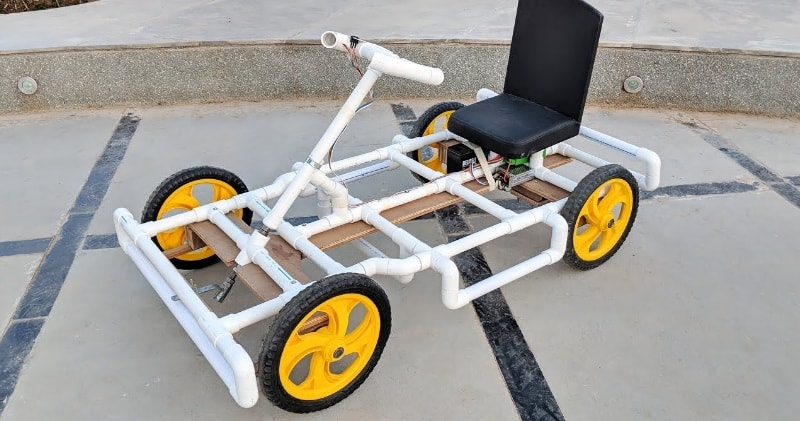 How to Make an Electric Go Kart/Car Using PVC Pipes At Home