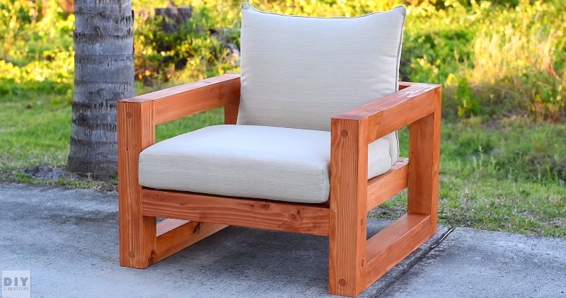It's not easy to find cool outdoor furniture that fits into your budget. It  is easy however, to build these great DIY outdoor garden and patio furniture  ... - DIY A Beautiful Modern Outdoor Chair Sia Magazine