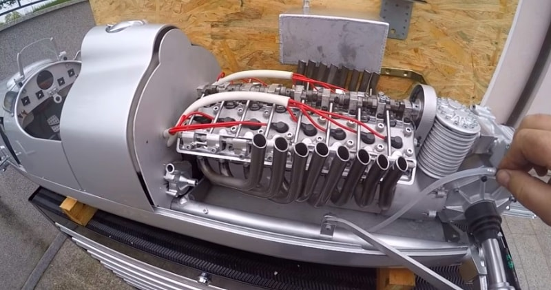 This Rc Auto Union Type C Of 1936 Race Car Has An Working