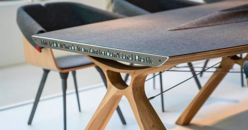 Plastic Trash From Amsterdam Canals Turned Into High End Furniture