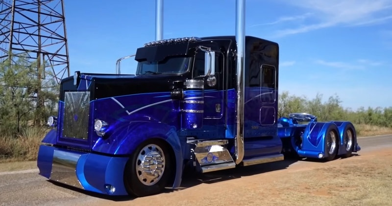 The Worlds Most Custom Kenworth 900 Built By Texas Chrome ...