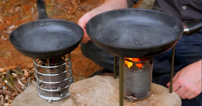 How to make a soup can stove easy to build campsite for How to make a stove