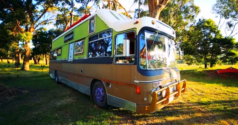 Amazing school bus conversion using all reclaimed for Waste material making craft