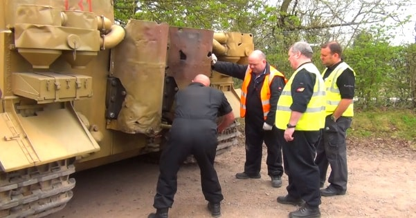 the only operational tiger tank t131 spectacular hand crank maybach