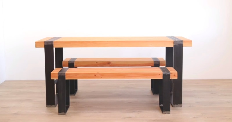 Peachy Diy Modern Dining Table W Matching Benches Uwap Interior Chair Design Uwaporg
