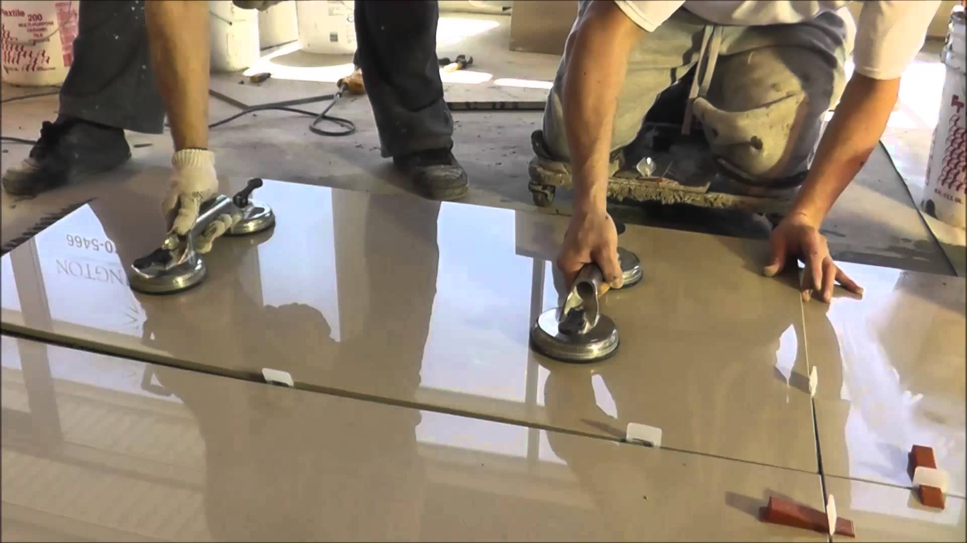 How To Install Porcelain 2 X4 24 X48 Floor Tile Sia