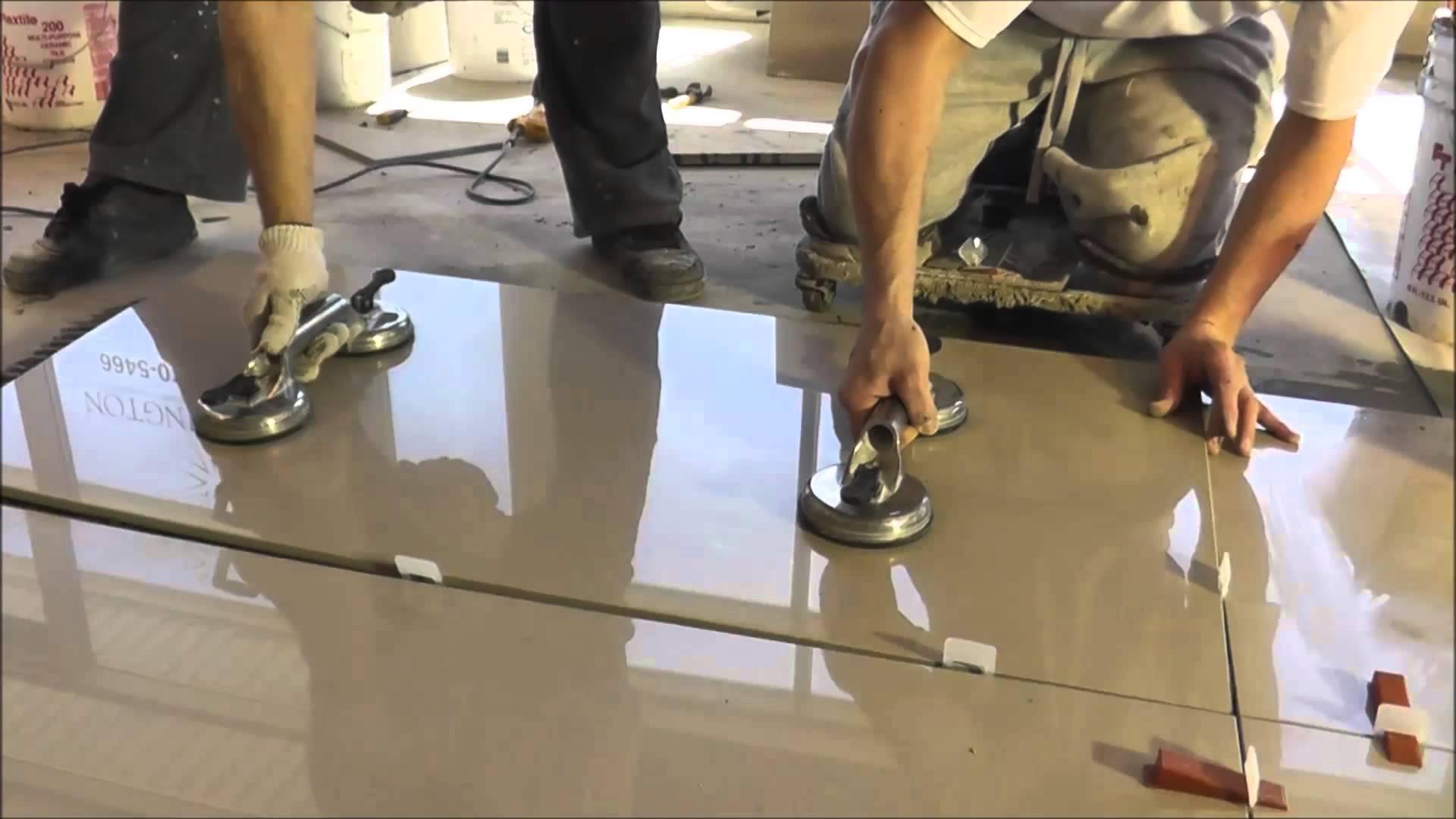 How To Install Porcelain 2 X4 24 X48 Floor Tile