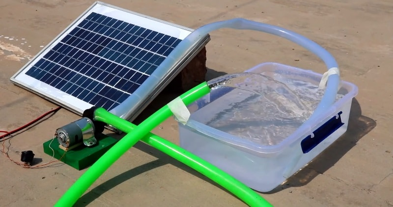 How To Make A Mini Solar Water Pump At Home Sia Magazin
