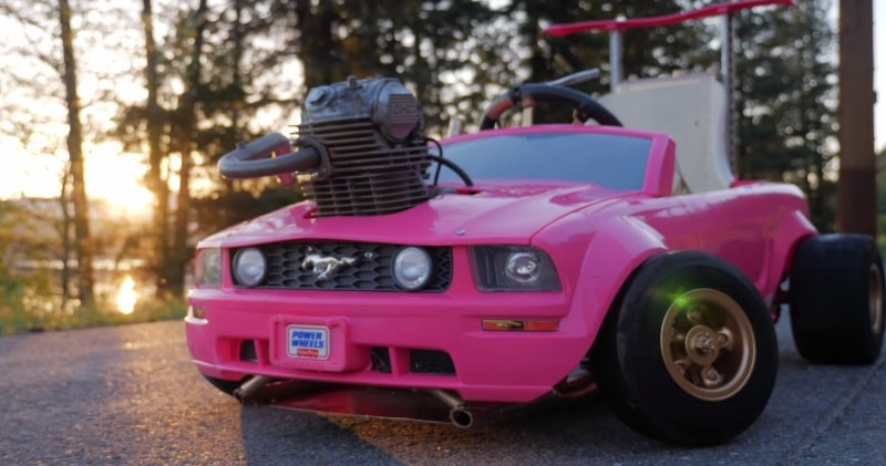 240cc Honda Real Engine In a Barbie Mustang Go Kart