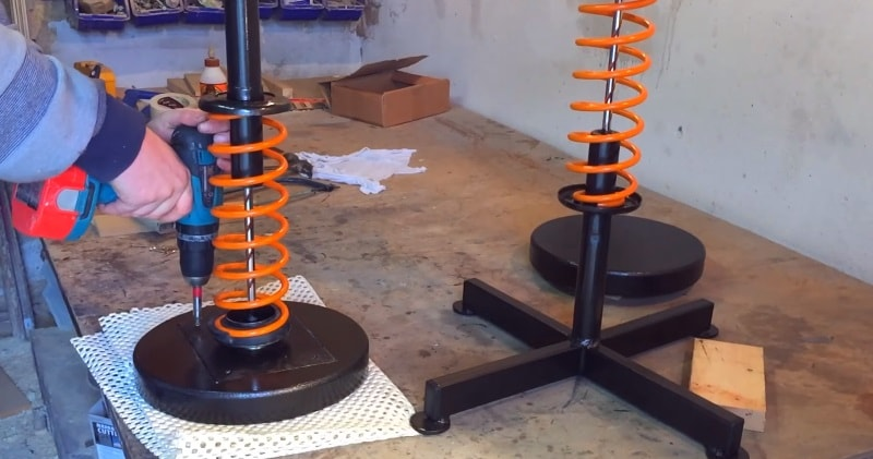 Diy How To Make Stools From Shock Absorbers Amp Coil