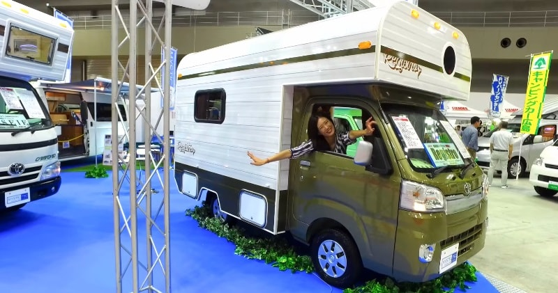 Tiny Toyota Truck Camper With Room To Sleep A Family Of 4