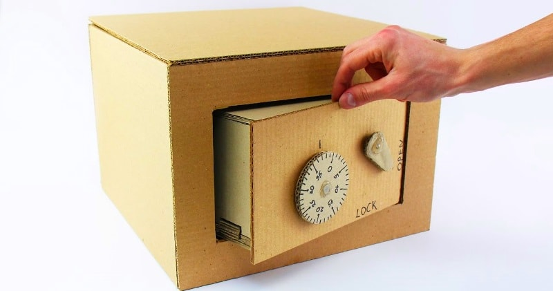 Diy How To Make Safe With Combination Lock From Cardboard