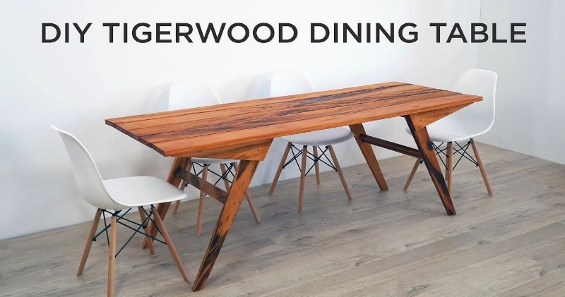 DIY Outdoor Dining Table Made Out Of Tigerwood Using Just Three - Outdoor dining table only