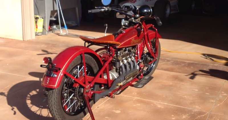 1930 Classic Indian 4 Motorcycle Startup Sia Magazine