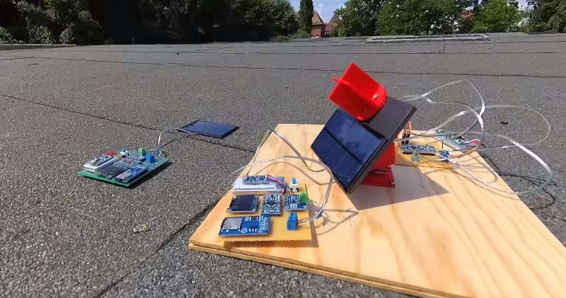 The solar panels are operating at optimal parameters when they are at the perfect right angle to the sun.