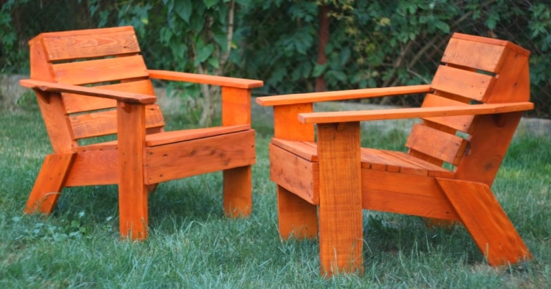 Cool Diy Pallet Wood Project Make A Simple Outdoor Chair With Machost Co Dining Chair Design Ideas Machostcouk