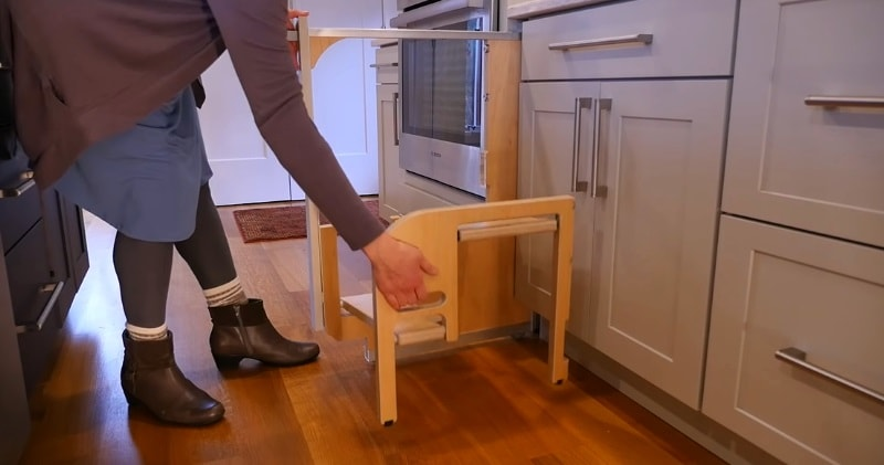 An Integrated Foldable Cabinet Step Stool Sia Magazine