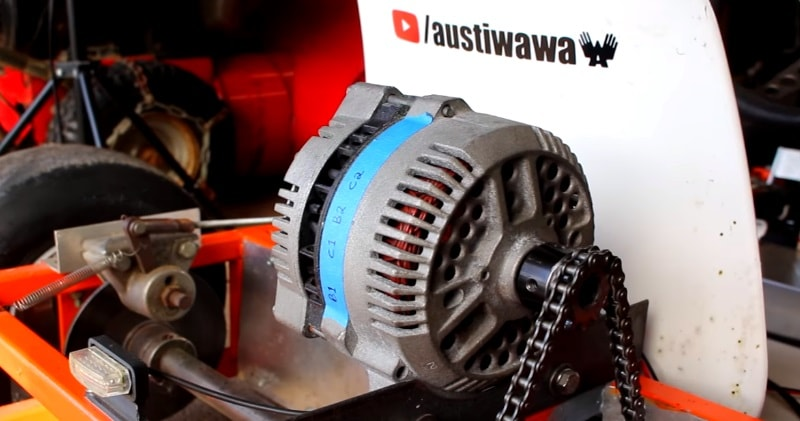 In This Video I Will Be Showing You How Converted Old Alternator Into A Motor For My Electric Go Kart