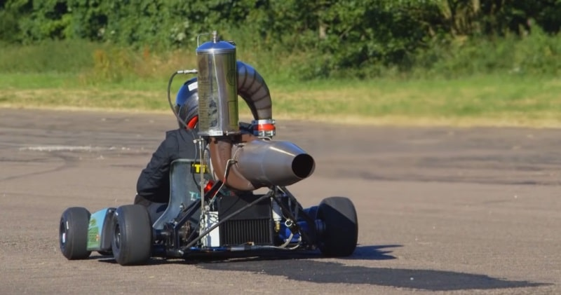 Engineer Builds The Fastest Jet-Powered Engine Go-Kart & Brakes The