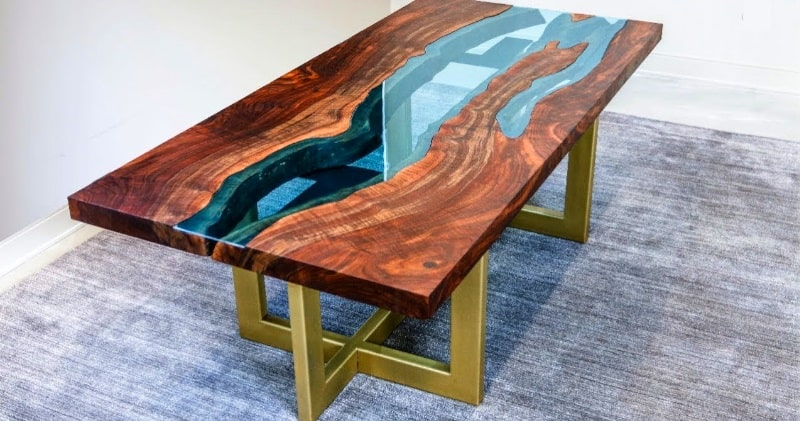 Woodworking U2013 How To Make Live Edge River Table