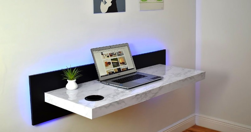 Diy How To Make A Wall Mounted Dream Desk