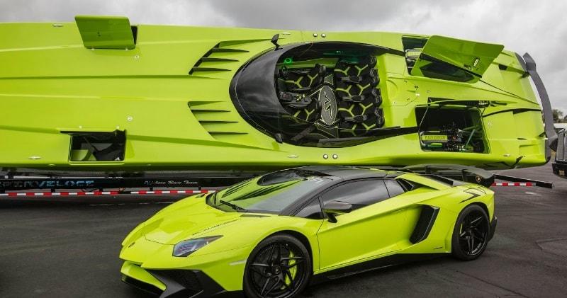 Gino Gargiulo Build A Ne Lamborghini Aventador Superveloce Powerboat.Exotic  Car TOY RALLY 2016.The Catamaran Is Powered By Twin Mercury Racing Engines  That ...
