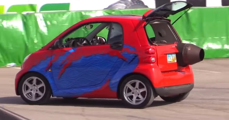 Mike West Built The World S Fastest Most Ful Smart Car We Caught Up To Him At Monster Jam Finals Where He Was Showcasing This Insane Ride