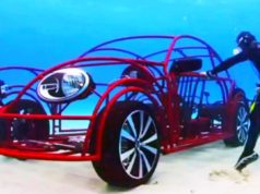 VW Beetle Transformed Into a Underwater Shark Cage Vehicle!