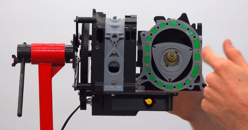 A 3D Printed 1/3rd Scale Rotary Mazda RX-7 Engine | Sia Magazin