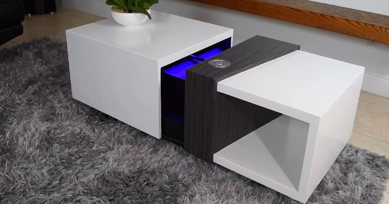Building An Amazing Motorized Coffee Table With A Secret 4k