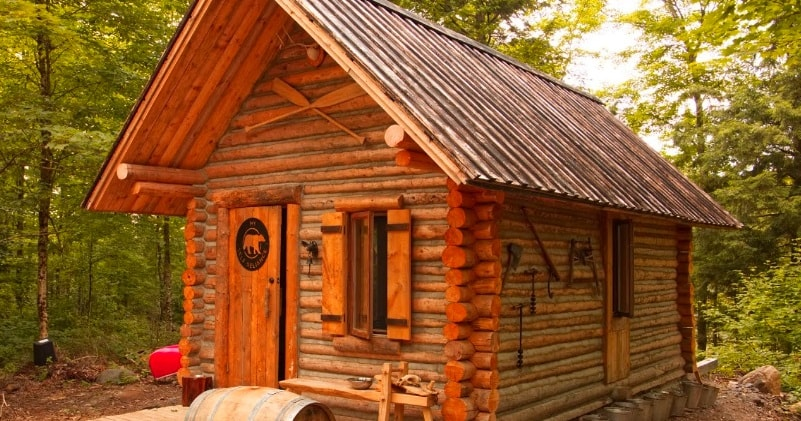 Off Grid Log Cabin Timelapse Built By One Man In Canadian