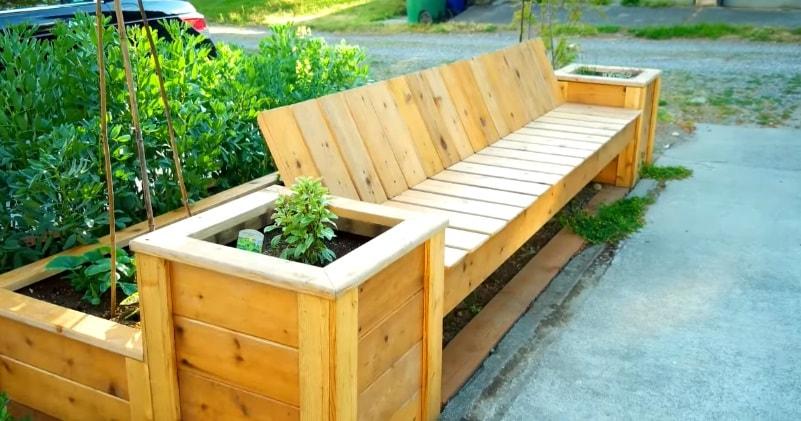 Build A Reclaimed Cedar Planter Bench