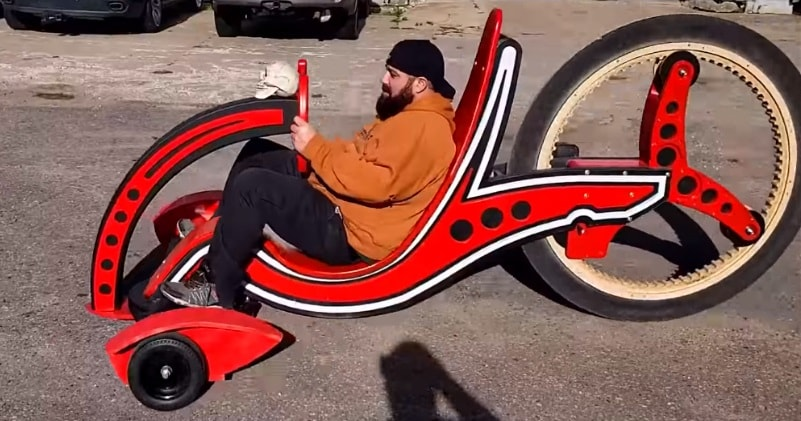 How To Make A WOOD BIKE & Power It With a CORDLESS DRILL