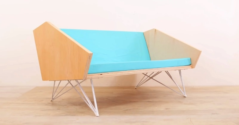 Miraculous Diy How To Make A Modern Sofa With Plywood Steel Legs Machost Co Dining Chair Design Ideas Machostcouk