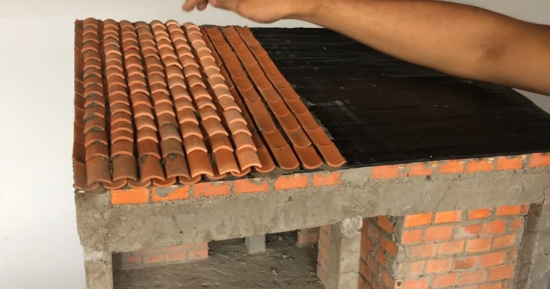 Building A Roof With Clay Tiles In Miniature Scale Model