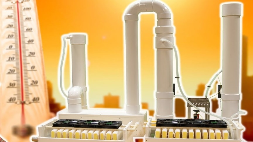 Revolutionary Air Conditioner Home Made Desiccant Based
