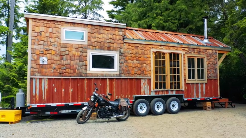A Unique Tiny House Made From Reclaimed & Recycled Materials