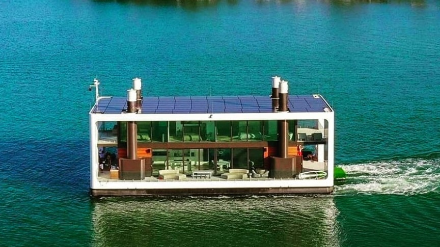 ARKUP World's First Solar-Powered Livable Yacht EVER – Floating House -  Waterstudio