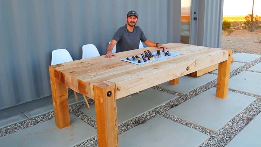 Woodworking Diy A Giant Outdoor Dining