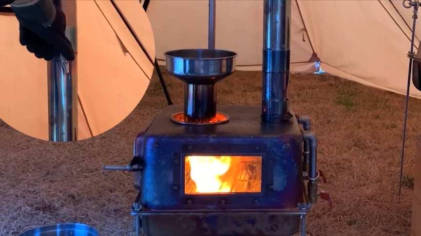 Homemade Gravity Fed Pellet Stove Burner